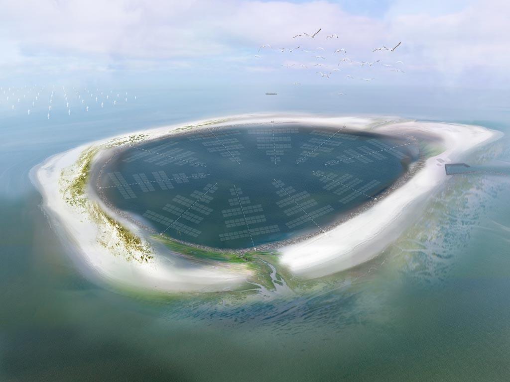 Energie-eiland in de Westerschelde