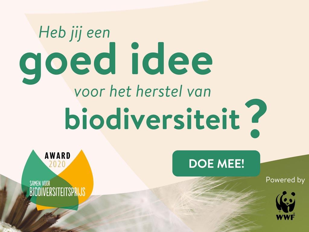 Win €25.000 voor jouw biodiversiteitsherstelproject